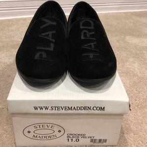 Steve Madden - 'Play Hard' Crocked Black Velvet
